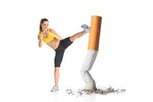 Stop Smoking Hypnotherapy South London - Kick-boxing a cigarette